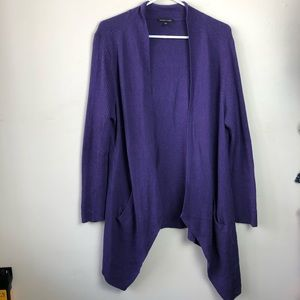 Eileen Fisher Size L Open Front Cardigan Sweater